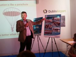 Brian Drain of DAA speaking about passenger expe