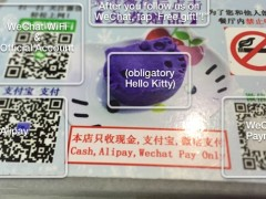 Restaurant placemat in China, photo and annotations by Dan Grover